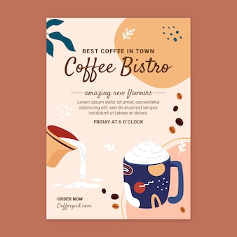 Coffee poster design template Free Vector