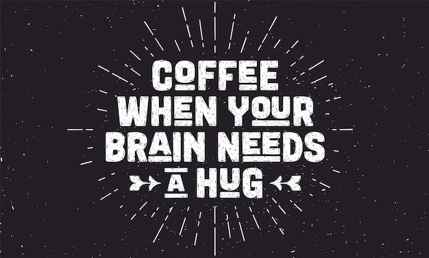 Кофе. плакат с рисованной надписью кофе