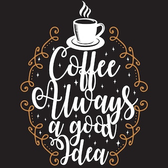 Coffee quote and saying. ¡