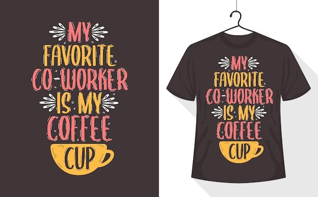 Футболка с цитатами из кофе,