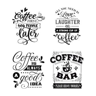 Кофейные цитаты типографские надписи для дизайна футболки