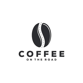 Coffee on the road logo concept.