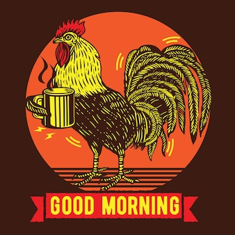 Coffee and rooster