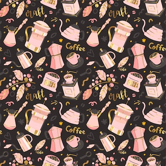 Coffee seamless  pattern