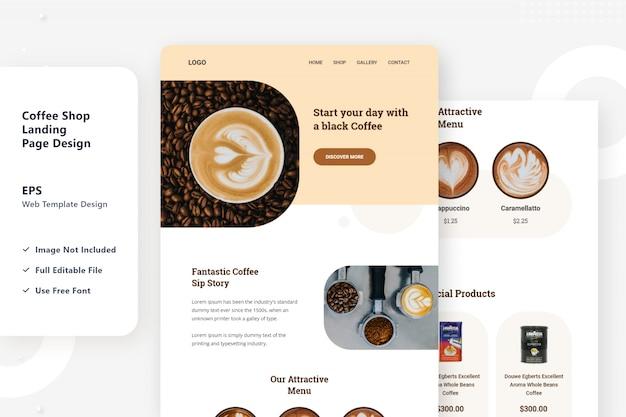 Coffee selling web ui design