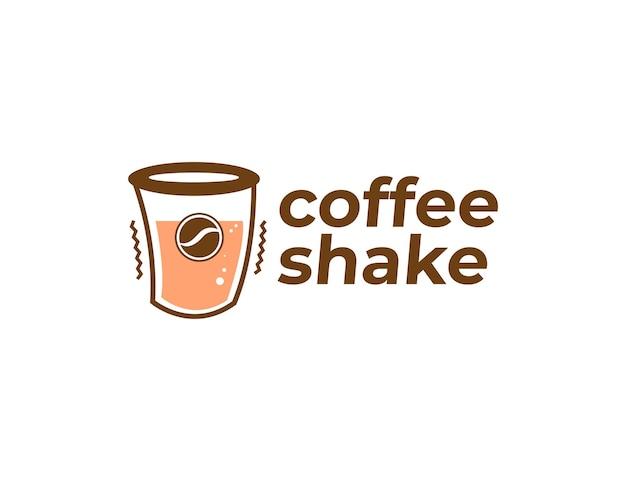 Coffee shake logo design template