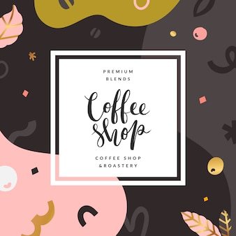 Coffee shop abstract background