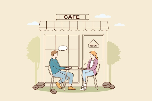 Концепция кафе и кафетерия Premium векторы