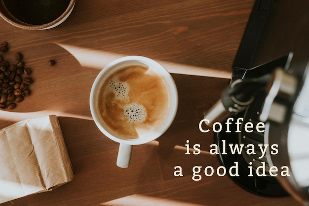 Coffee shop banner template in vintage illustration theme