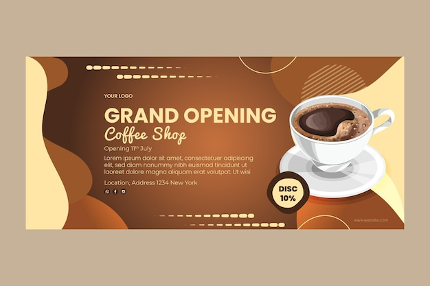 Coffee shop banner template