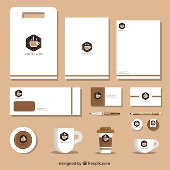 Coffee shop brand stationery