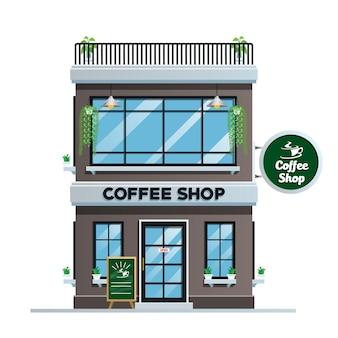 モダンなスタイルのコーヒーショップの建物