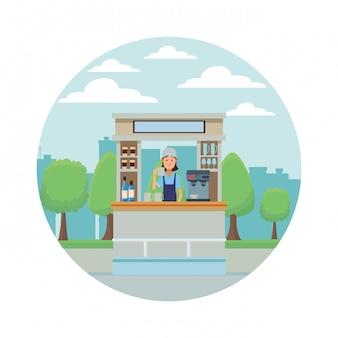 Coffee shop cartoon