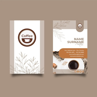 Coffee shop double-sided business card