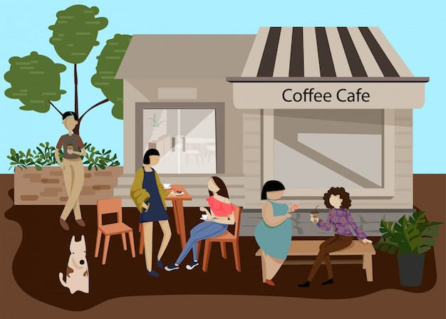 Coffee shop for drinking
