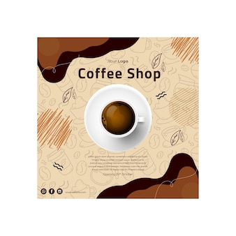 Coffee shop flyer square