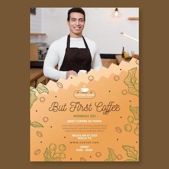 Шаблон флаера кафе