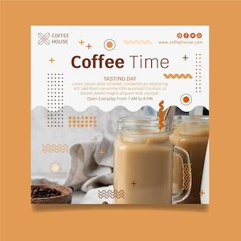 Modello di volantino per caffetteria