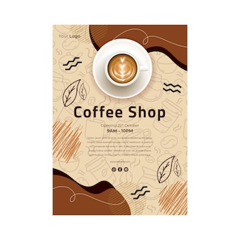 Coffee shop flyer vertical
