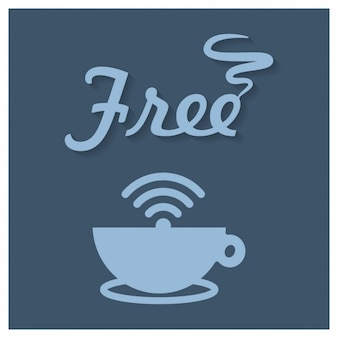 Coffee shop free wifi sign