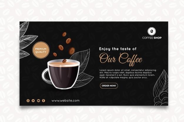 Modello di banner orizzontale della caffetteria