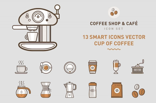 Coffee shop icon collection