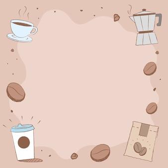 コーヒーショップinstagramの投稿の背景ベクトル