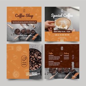コーヒーショップのinstagramの投稿