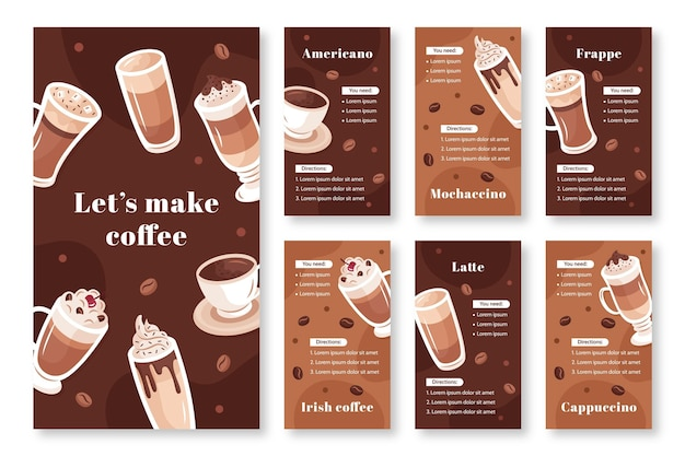 Coffee shop instagram stories template