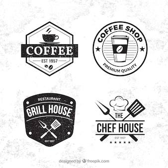 Coffee shop label collection with vintage style