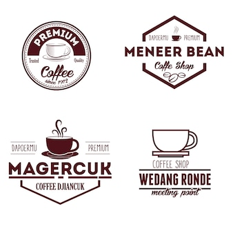 Coffee shop logo and badges