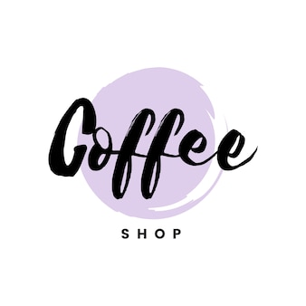 Coffee shop logo branding vector
