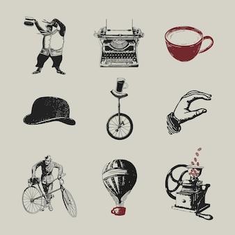 コーヒーショップのロゴビジネスコーポレートアイデンティティセット