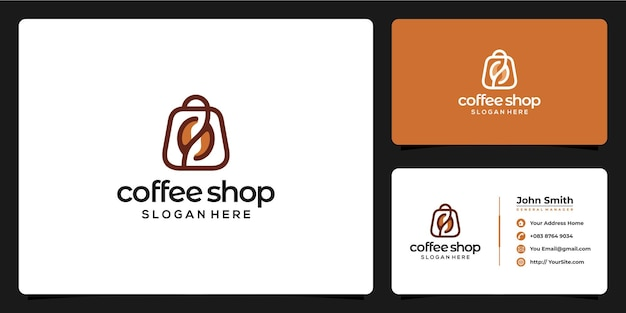 Coffee shop logo combination and business card