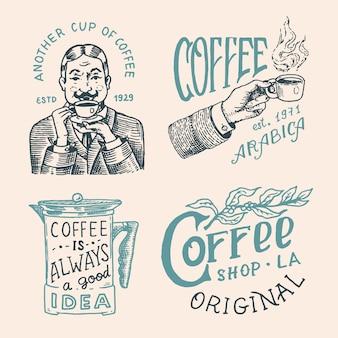 Coffee shop logo and emblem