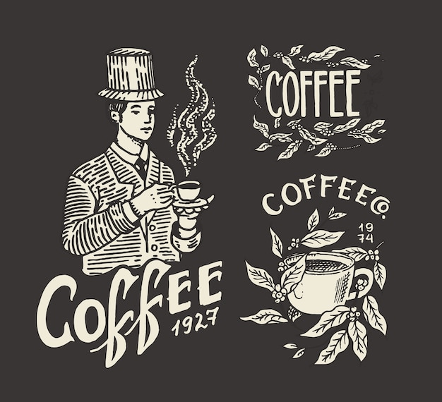 Coffee shop logo and emblem