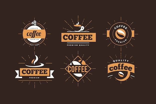 Coffee shop logo  retro collection