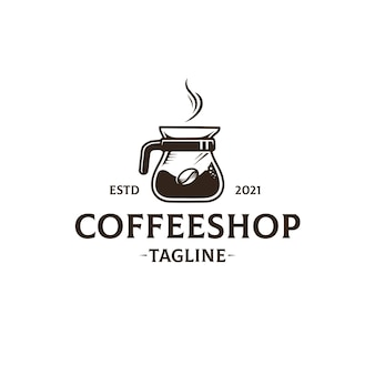 Coffee shop logo template isolated on white