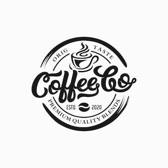 Шаблон логотипа кафе. эмблема ретро кофе.