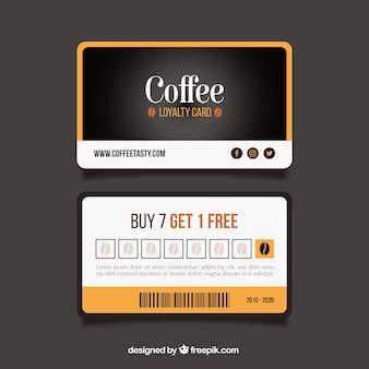 コーヒーショップのロイヤリティカードテンプレート