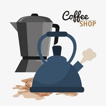 Coffee shop maker machine pot