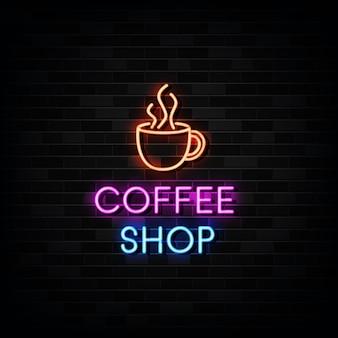 Кофейня неоновая вывеска