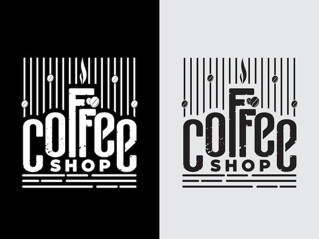Coffee shop retro design