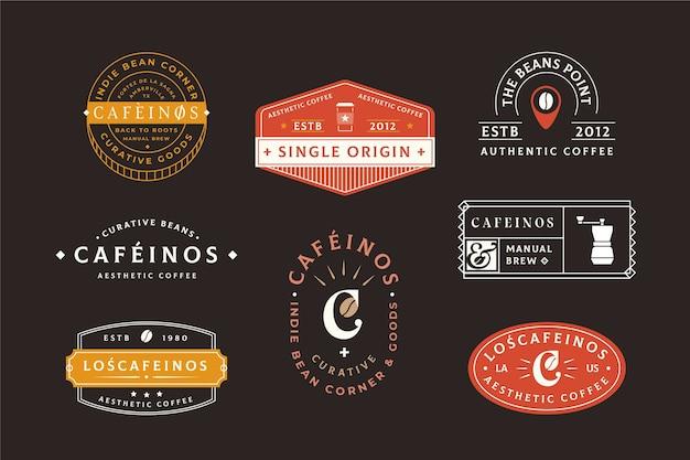 Coffee shop retro logo set