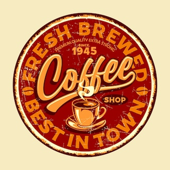 Coffee shop retro signs graphic
