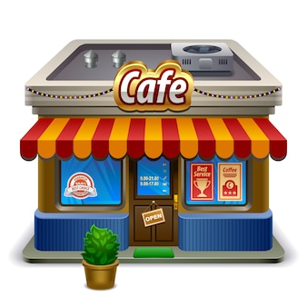 커피 숍 또는 카페