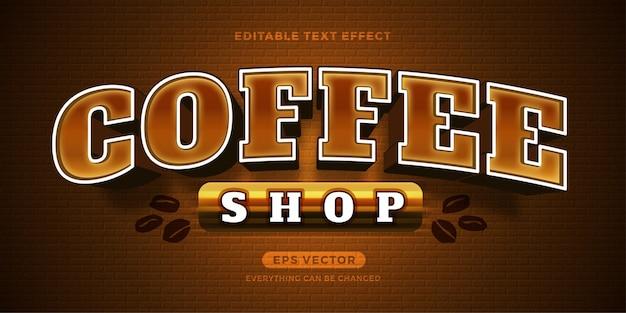 Текстовый эффект кафе