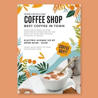 Modello di volantino verticale di caffetteria