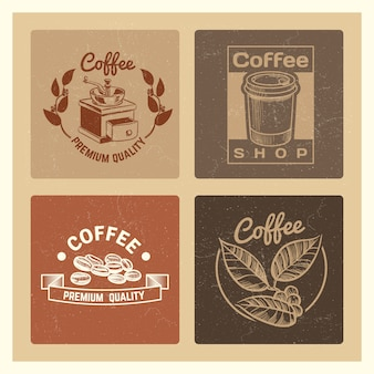 Coffee shop vintage banners