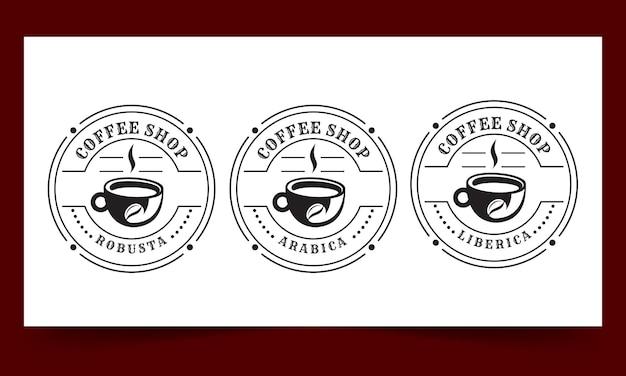 커피숍 빈티지 로고 템플릿